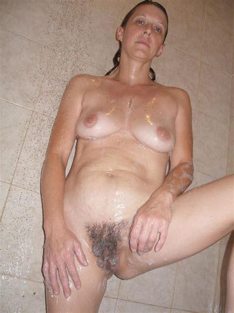 Hairy Mature Shower