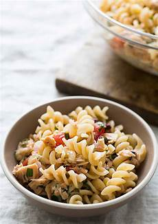 mediterranean tuna pasta recipe simplyrecipes com