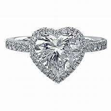 heart shaped wedding rings 4 10 ct egl heart shaped diamond halo pave engagement