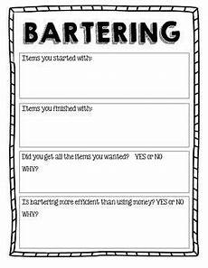 bartering worksheet economics third grade bartering and trade self sufficency 3rd grade