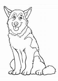Ausmalbilder Hunde Husky Ausmalbilder Huski Tiere Zum Ausmalen Malvorlagen Hund