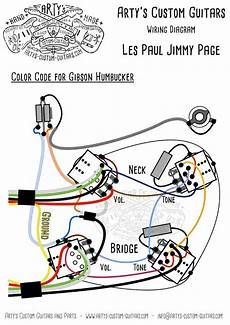 les paul jimmy page style wiring harness mit bumblebee caps gitarre les paul und jimmy page