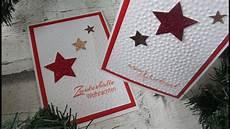 sternen weihnachtskarte selber basteln diy cardmaking