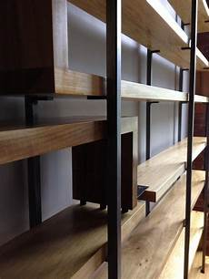 items similar to modern wood and steel floating shelf