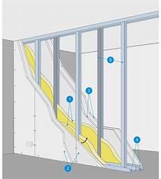 cloison plaque de platre comment monter une cloison en plaque de pl 226 tre castorama