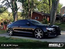 Black Audi S5 With 20 Vossen CV7 Wheels  Dark Cars