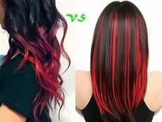 rot schwarz haarfarbe ombre hair und str 228 hnchen highlights welche trendfrisur