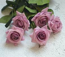 mauve real touch silk roses diy silk bridal bouquets