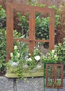 Deko Garten - deko fenster 80 x 60 cm zum 214 ffnen edelrost rost