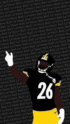 steelers wallpaper for iphone i made another wallpaper this one with le veon bell