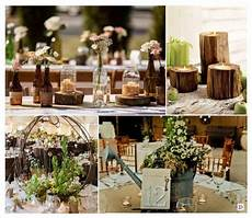 decoration maison pour mariage decoration mariage rustique vive le bois d 233 co de table