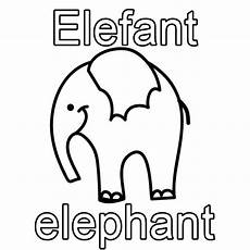 Schule Und Familie Ausmalbild Drucken Kostenlose Malvorlage Englisch Lernen Elefant Elephant