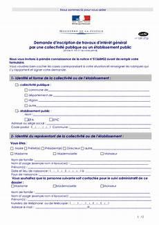 Demande D Inscription De Travaux D Int 233 R 234 T G 233 N 233 Ral Par Une
