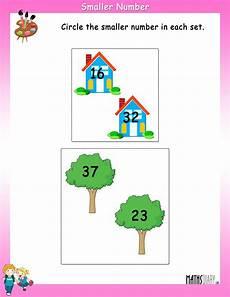 circle the smaller number math worksheets mathsdiary com