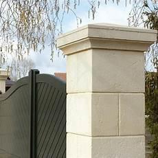 pile de portail pilier pilier portail b 233 ton au meilleur prix leroy merlin