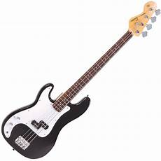 Encore Lh E4blk Left Handed Bass Guitar Black From