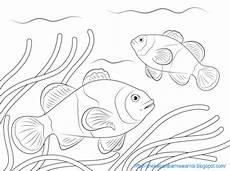 Gambar Mewarnai Ikan Di Laut Untuk Anak Paud Dan Tk