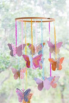 Diy Watercolor Butterfly Mobile Crafts For
