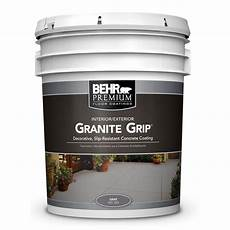 behr 5 gal 65005 gray granite grip interior exterior concrete paint 65005 the home depot
