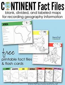 free printable geography continent fact files geography activities teaching geography homeschool