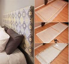 Kopflehne Fürs Bett - bett kopfteil selbst aus holzrahmen und stoff als cooles