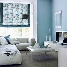 Zimmer Grau Blau - blue and grey living room zion