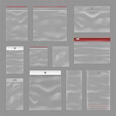 cleartransparent zip bags realistic set kostenlose vektor