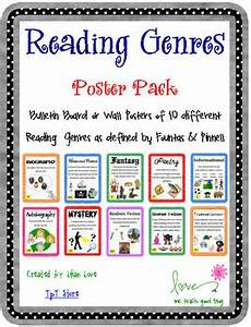 children s books genres list reading genre poster set with definitions by me teach good tpt
