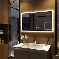 badspiegel beleuchtung led badspiegel mit beleuchtung touch uhr dimmbar