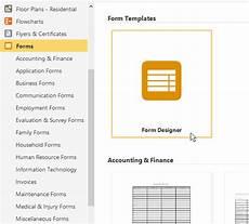 easy form creator try smartdraw free