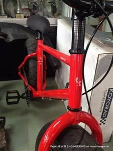 Modifikasi Motor Jadi Sepeda by Modifikasi Sepeda Pakai Velg Dan Ban Motor Keren Jadi