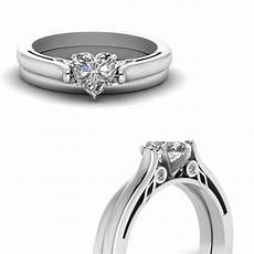 heart shaped diamond cathedral wedding ring in 14k white gold fascinating diamonds