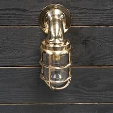 brass swan neck 90 degree passage wall light large