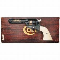 colt wayne commemorative single action army revolver with factory box
