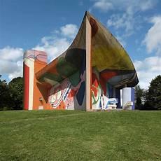 Le Corbusier Murals Applied As Graffiti To Notre Dame Du