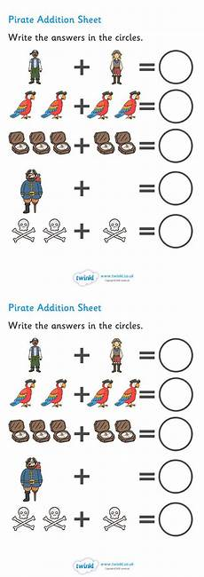 subtraction worksheets twinkl 10271 twinkl resources gt gt pirate addition sheet gt gt thousands of printable primary teaching resources