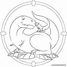 Mandala Malvorlagen Dinosaurier Dinosaurier Mit Baby Dino Kostenloses Mandala