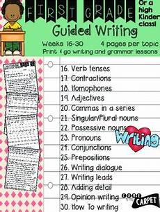 guided writing worksheets for grade 2 22815 1st grade guided writing weeks 16 30 by come to the carpet tpt