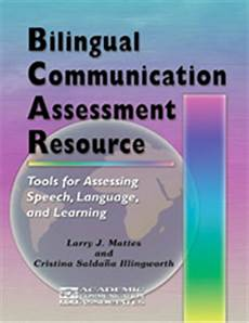 bilingual communication assessment resource bcar speech therapy materials special education