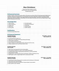 10 volunteer resume templates pdf doc free premium