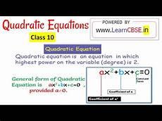 define quadratic equation write quadratic equation in