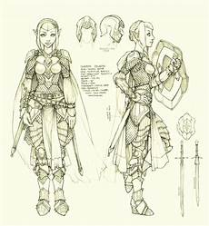 eladrin paladin character design sheet afterimages of ghostfire the art of lichty