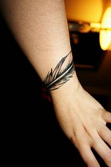 Idea For A Feather Tat To Go Around The Wrist Not