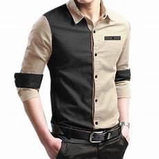 jual baju kemeja pria lengan panjang slimfit bahan katun streach bukan kemeja flanel
