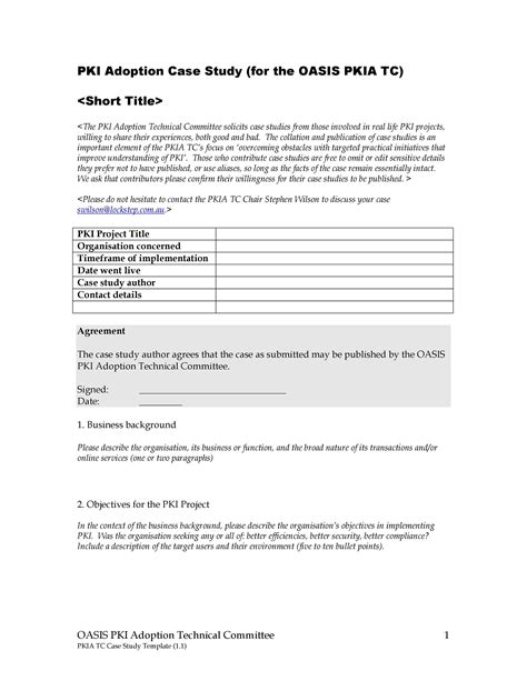 Case Study Description Examples
