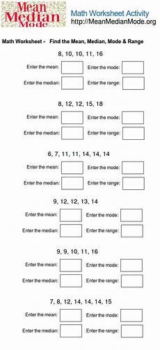 math worksheet activity find the mean median mode range 2 mean median mode org