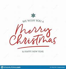 we wish you merry christmas and happy new year stock vector illustration of decorative font