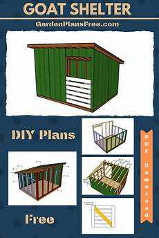 goat housing plans 8 215 10 goat shelter plans goat shelter how to plan diy plans