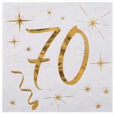 serviettes en papier 70 ans d 233 co de table anniversaire