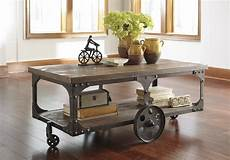 industrial coffee tables with wheels industrial design finds from furniture to accessories